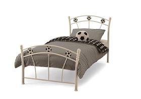 Soccer Metal Bed Frame White